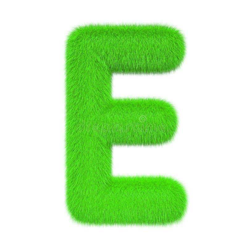 Letra colorida, macia, peludo E rendi??o 3d ilustração do vetor