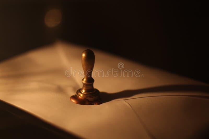 Letra com selo da cera de selagem foto de stock royalty free