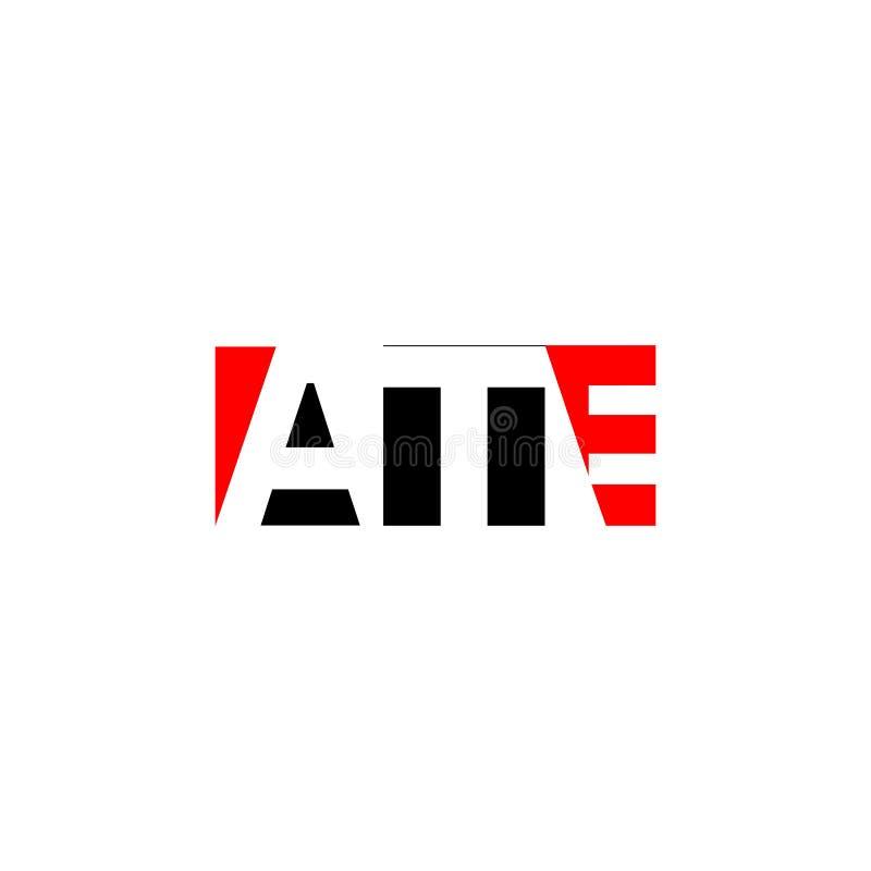 A letra COMEU a combinação para o elemento de marcagem com ferro quente da letra do logotipo do projeto da empresa ilustração do vetor