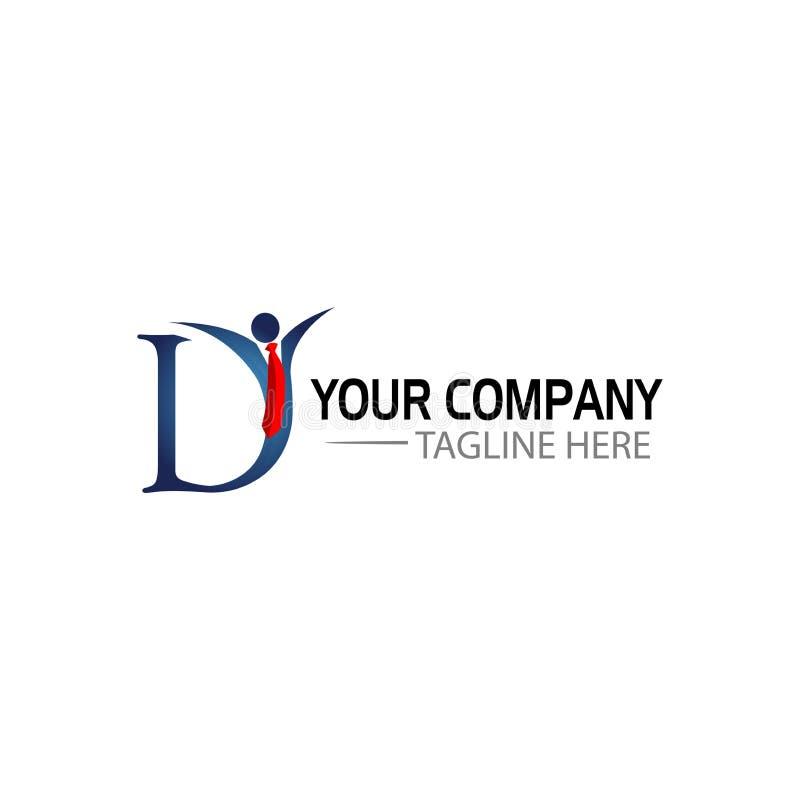 Letra criativa D Logo Design povos das ligas e a letra D, ilustração do vetor