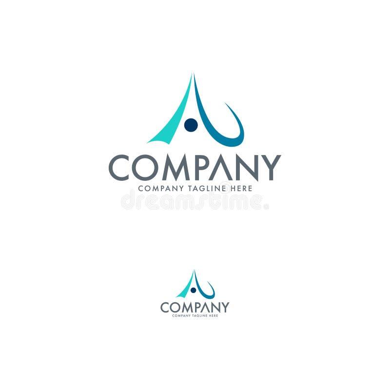 Letra criativa Logo Design Template ilustração stock
