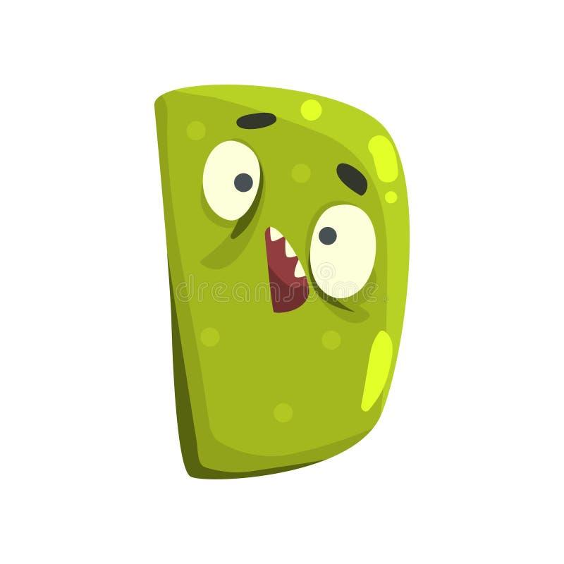 Letra D del monstruo del personaje de dibujos animados stock de ilustración
