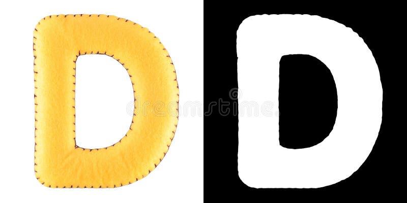 Letra D do feltro ilustração stock