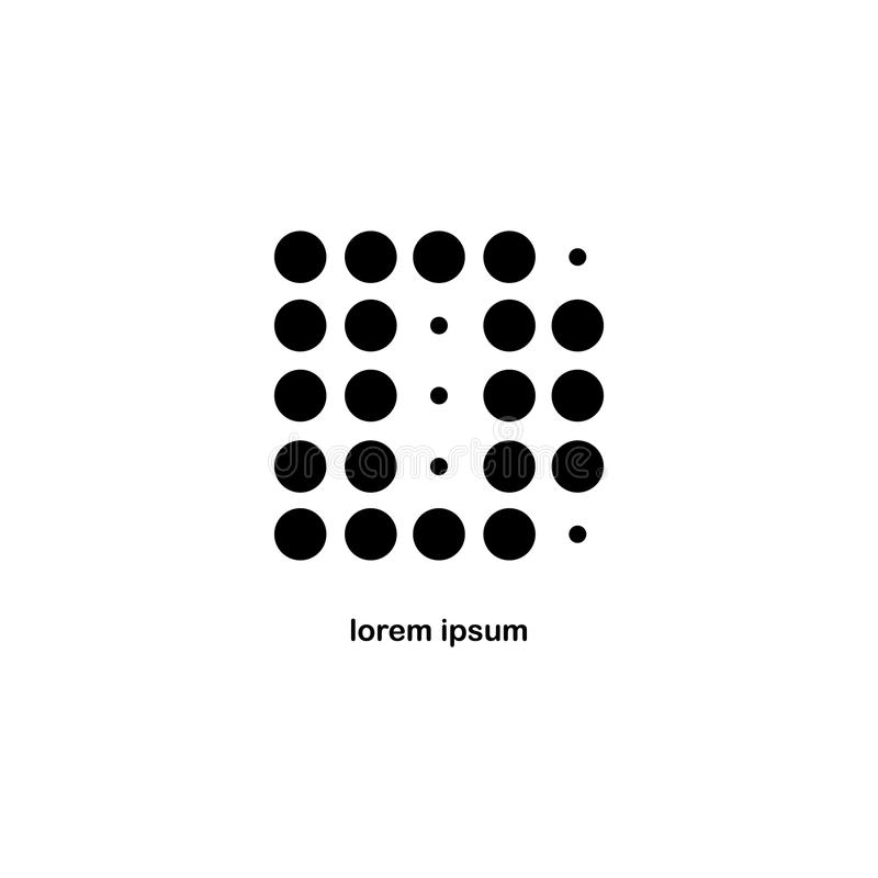 Letra D Dot Logo Icon fotografía de archivo