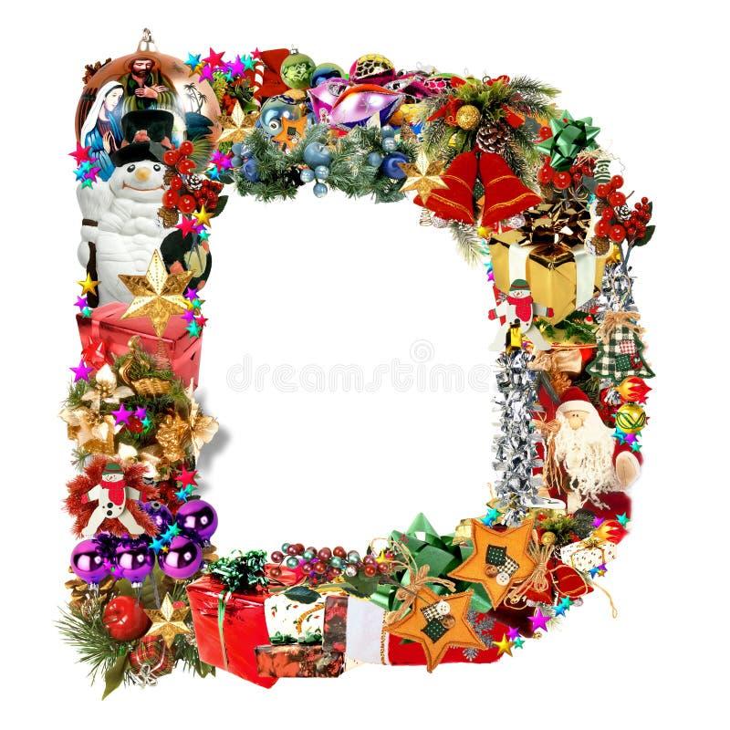 Download Letra D, Para La Decoración De La Navidad Stock de ilustración - Ilustración de color, bayas: 7287419