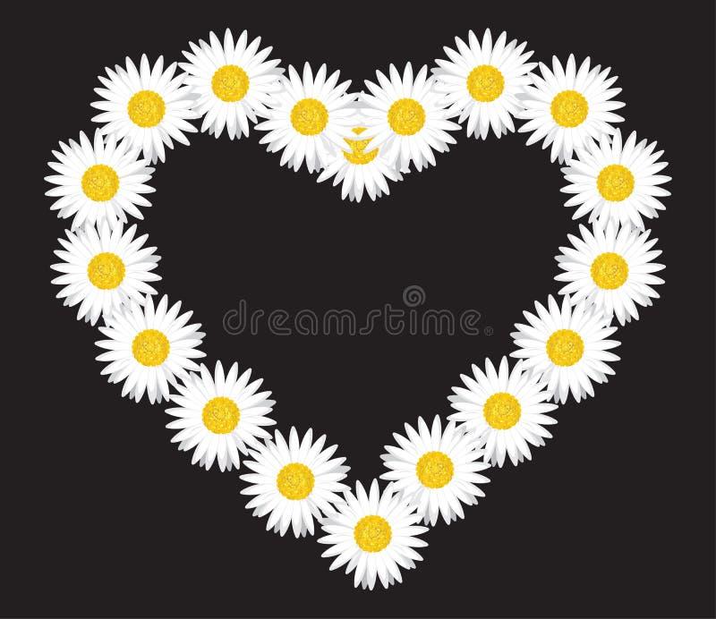 Letra da flor da margarida ilustração royalty free