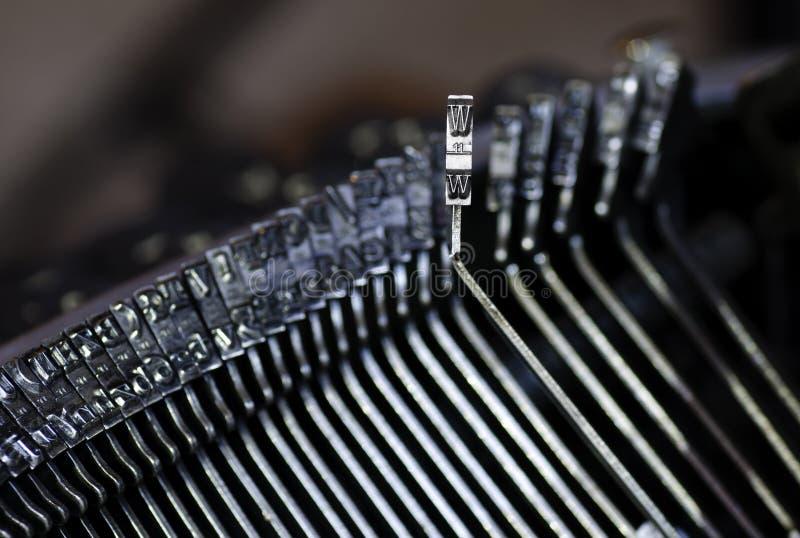 Letra da máquina de escrever imagens de stock