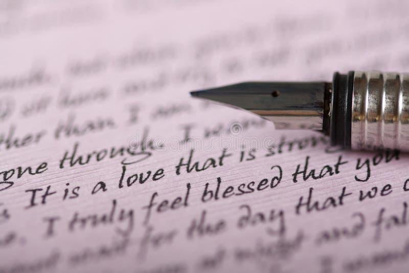 Letra de amor foto de stock