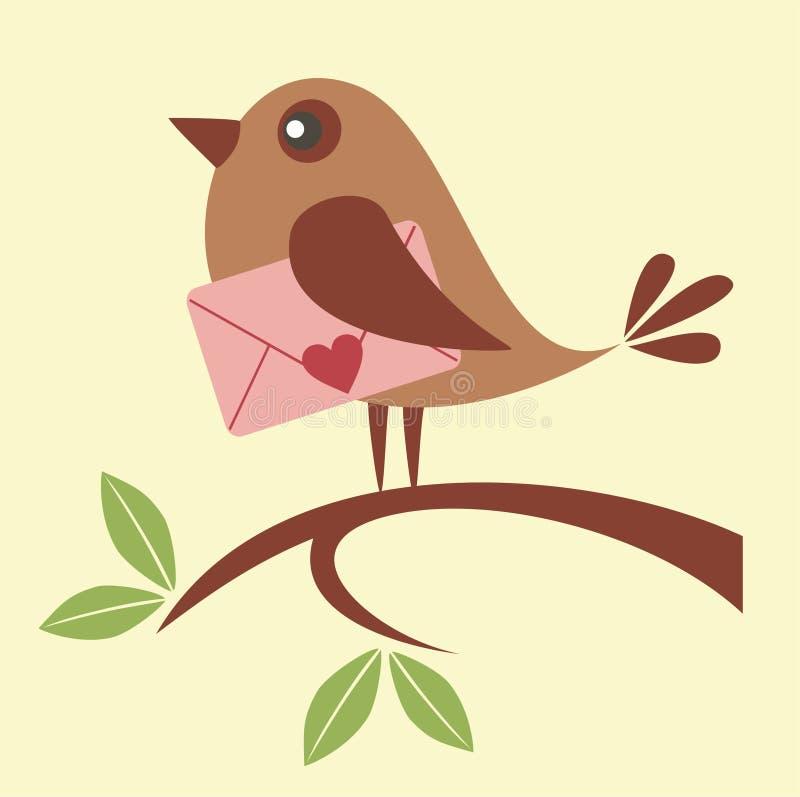 Letra de amor ilustración del vector