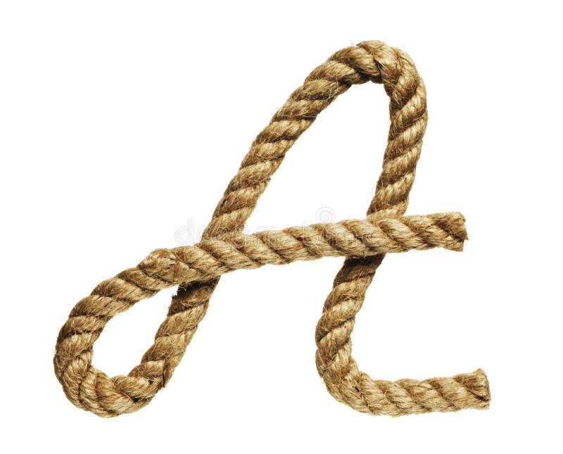 Letra de formación de la cuerda A foto de archivo