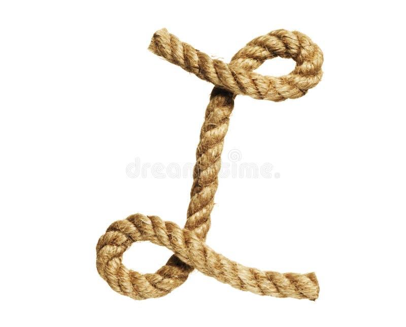 Letra de formación de la cuerda L imagenes de archivo