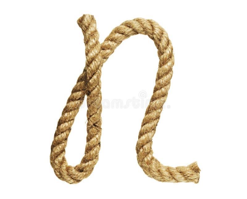 Letra de formación de la cuerda N fotos de archivo