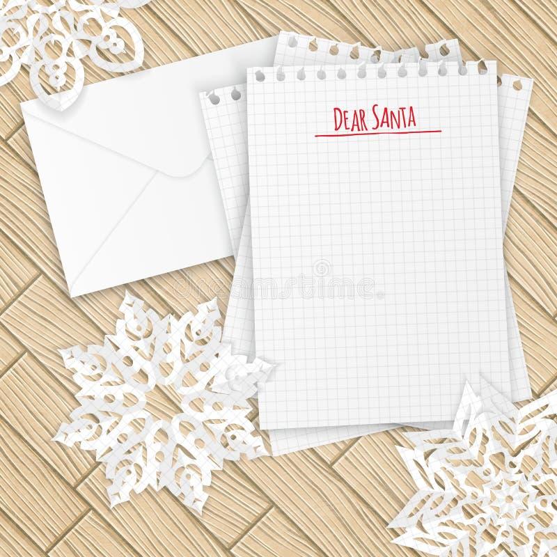 Letra de la Feliz Navidad con los copos de nieve libre illustration