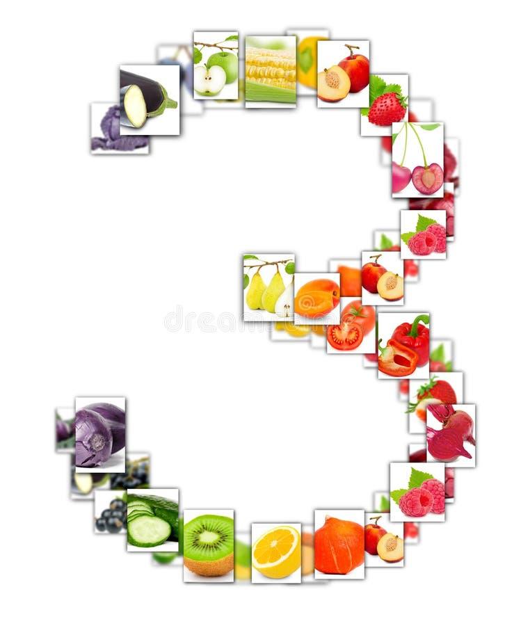 Letra de la fruta y verdura fotografía de archivo libre de regalías