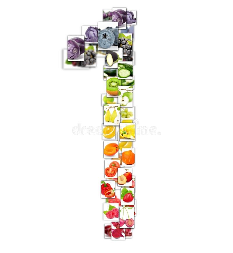 Letra de la fruta y verdura fotos de archivo
