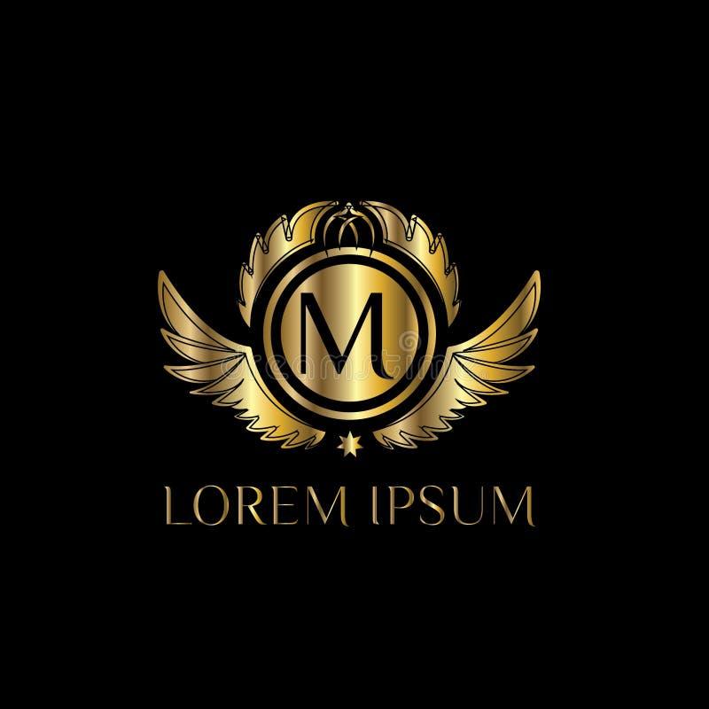 Letra De Lujo M Logo Vector La Muestra De La Plantilla Del Logotipo ...