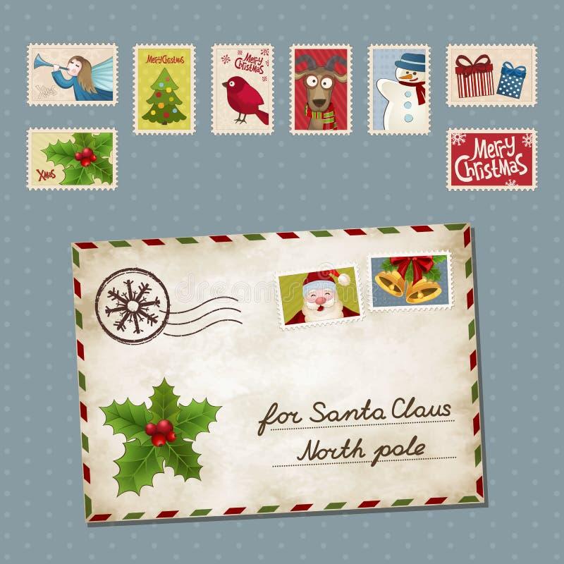 Letra de Navidad ilustración del vector