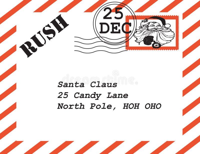 Letra de Papai Noel. ilustração do vetor
