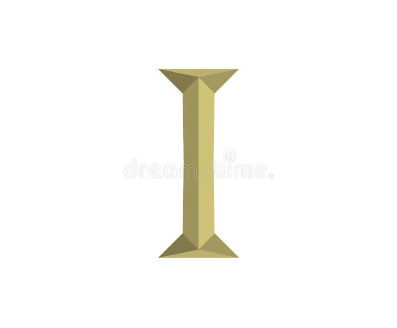 1 letra 6 de Roma ilustração do vetor