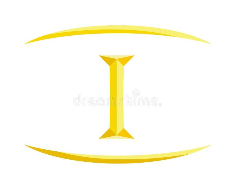 1 letra 8 de Roma ilustração do vetor