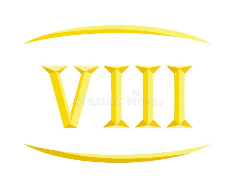 letra 8 de 8 Roma ilustração stock