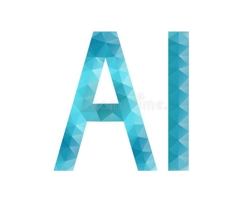 Letra del AI, polígono libre illustration
