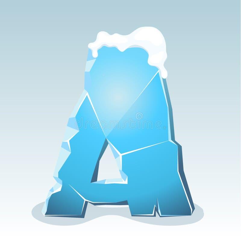 Letra A del hielo ilustración del vector