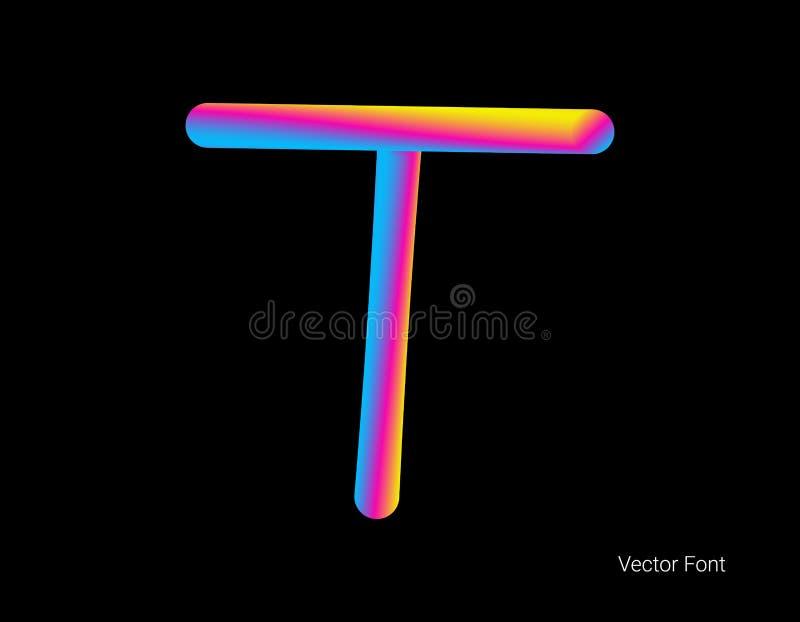 Letra del vector L?nea abstracta de la mezcla de la letra Logo Symbol stock de ilustración