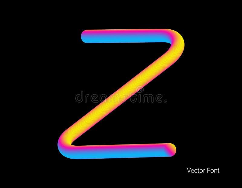Letra del vector L?nea abstracta de la mezcla de la letra Logo Symbol ilustración del vector