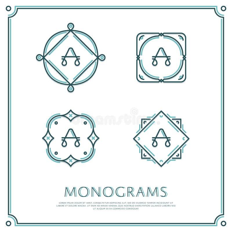 Letra del vector un monograma ilustración del vector