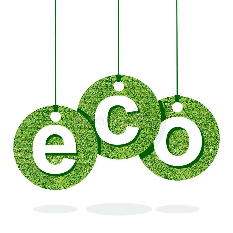 Letra del verde de Eco ilustración del vector