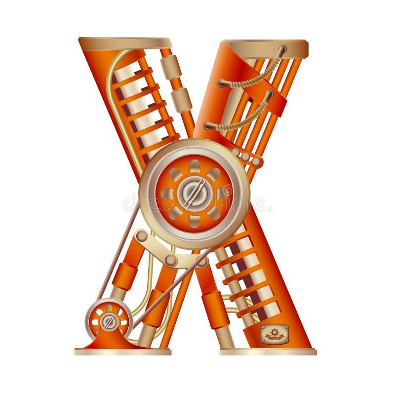 A letra X do alfabeto latino ilustração royalty free