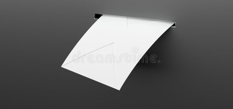 Letra do correio na caixa postal ilustração royalty free