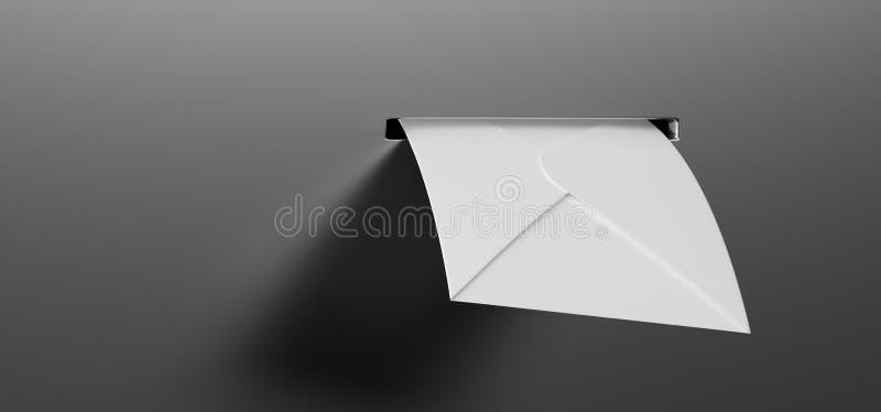 Letra do correio na caixa postal ilustração stock