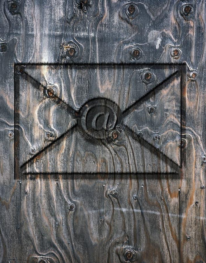 Letra do email imagens de stock