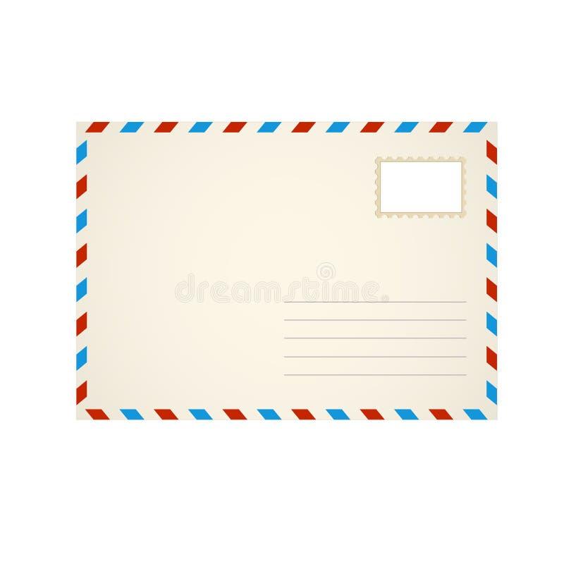 Letra do envelope do molde ilustração royalty free