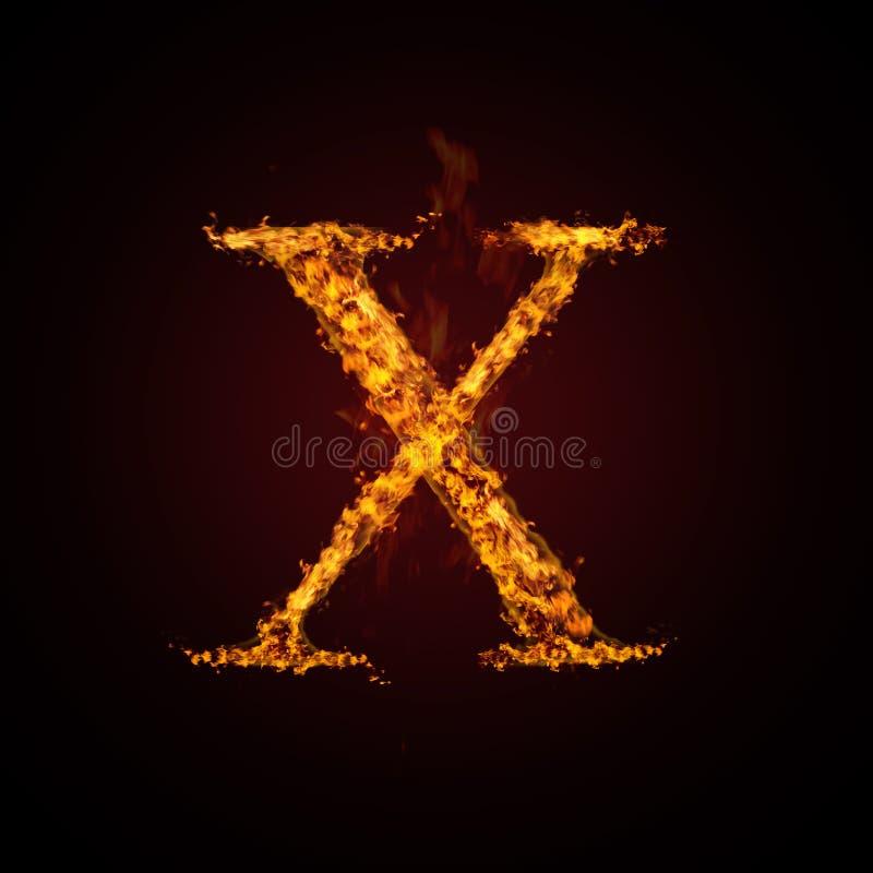 Letra do incêndio ilustração stock