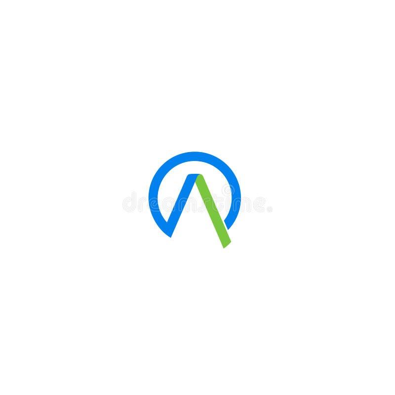 Letra A do logotipo para pessoal ou incorporado inicial imagem de stock