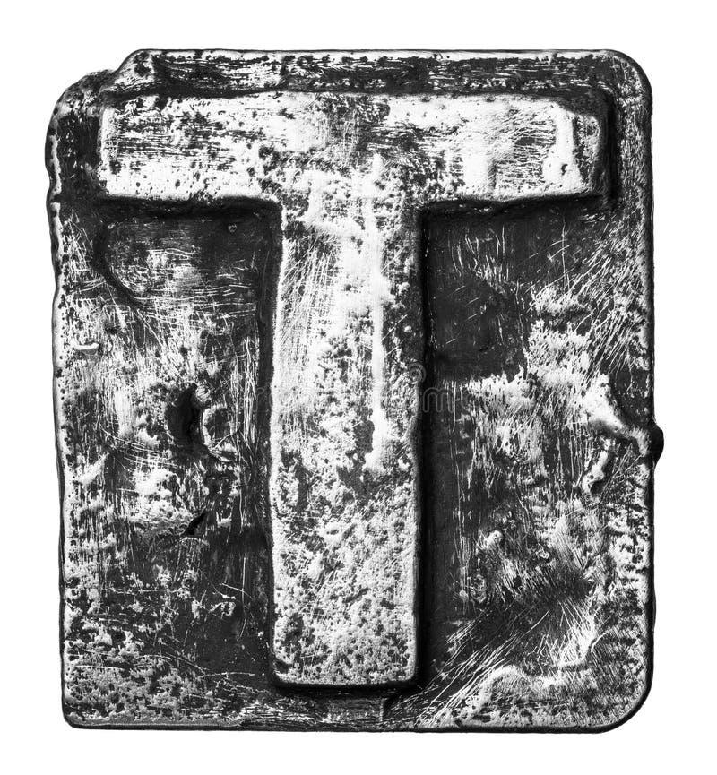 Letra do metal imagem de stock royalty free