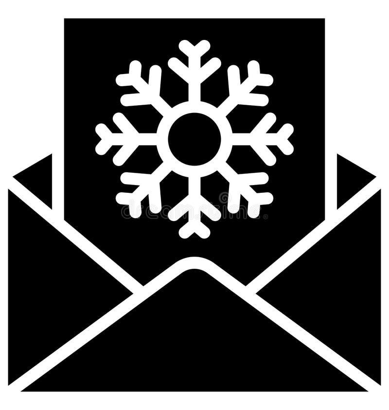 letra do Natal, ícone isolado letra do vetor da neve que pode facilmente ser alterado ou editado em todo o estilo ilustração stock