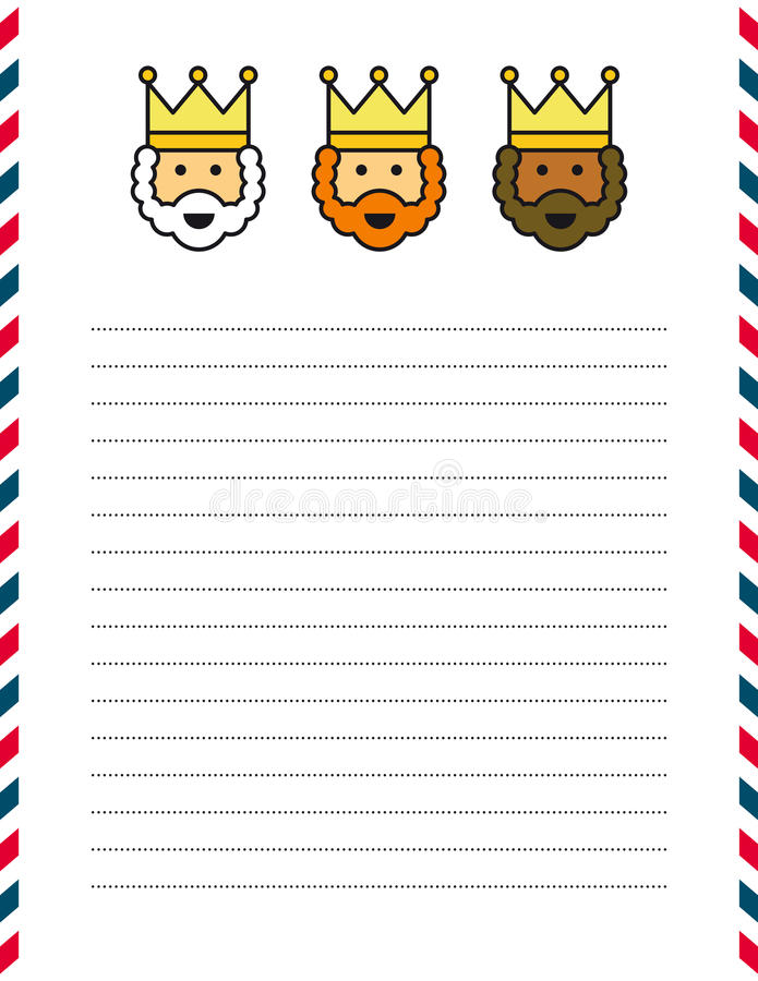Letra do Natal ilustração royalty free