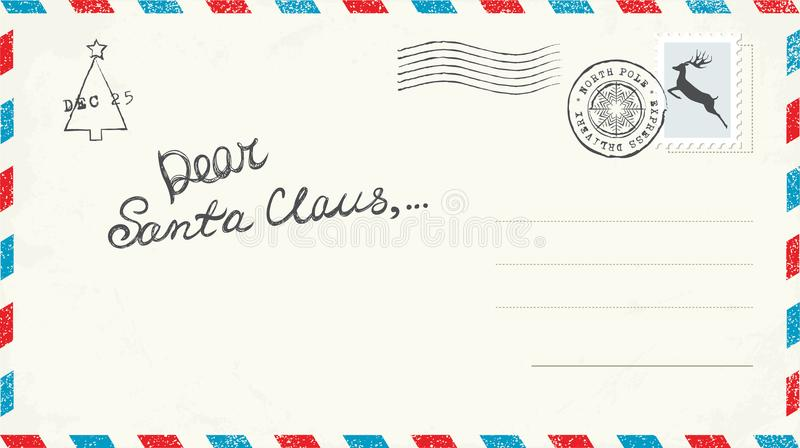 Letra do Natal a Santa imagem de stock royalty free