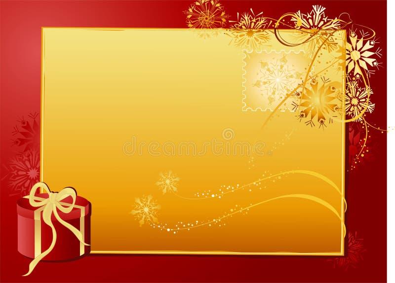 Letra do ouro do Natal ilustração royalty free