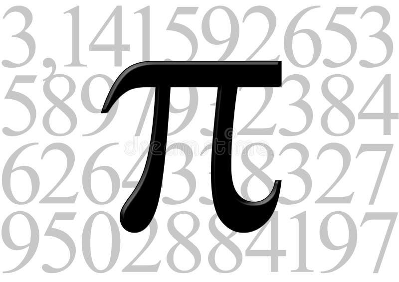 Letra do Pi no valor do número ilustração royalty free