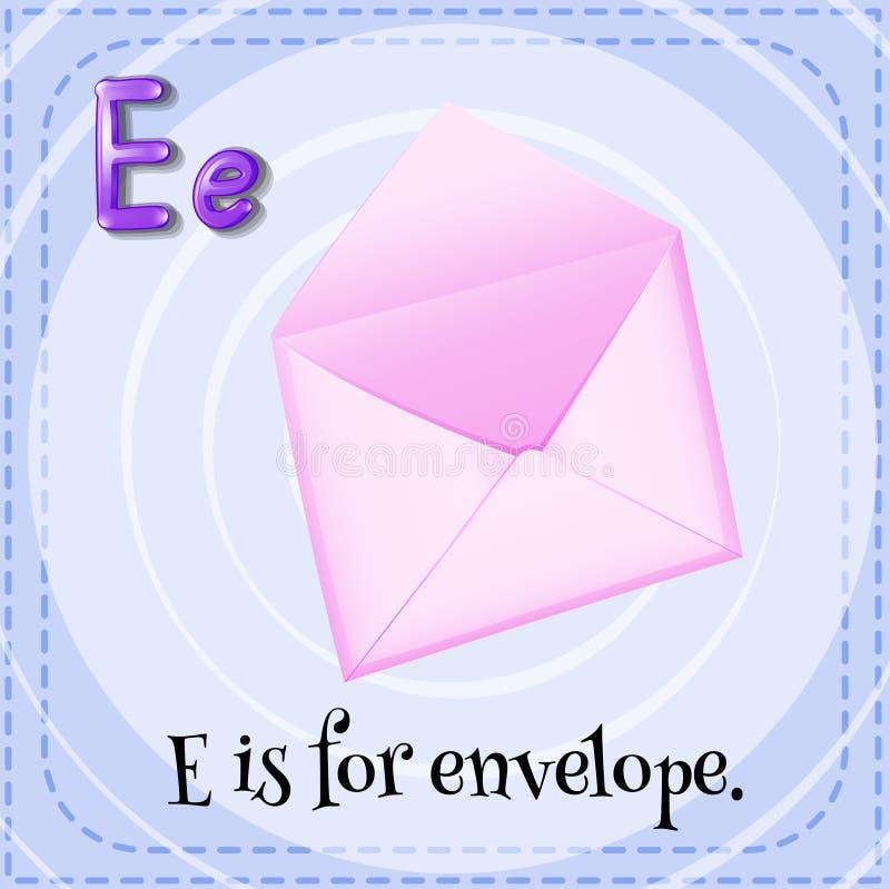 Letra E ilustração stock