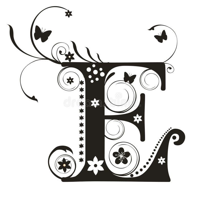 Letra E ilustración del vector
