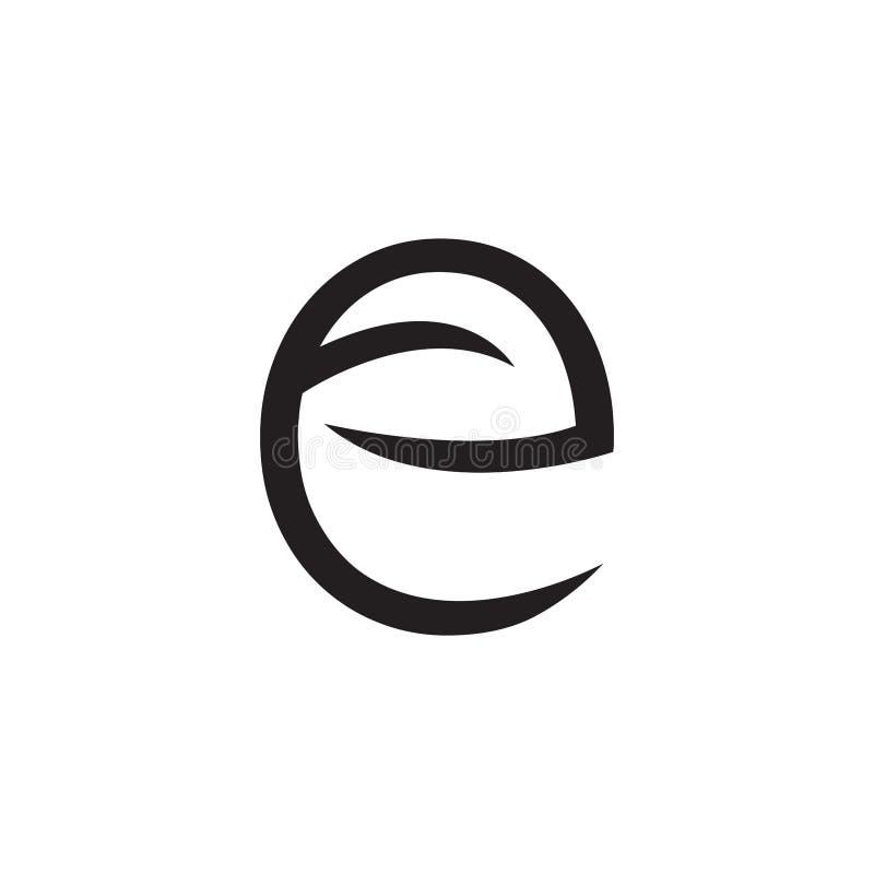Letra E do logotipo com folhas e setas - vetor ilustração royalty free