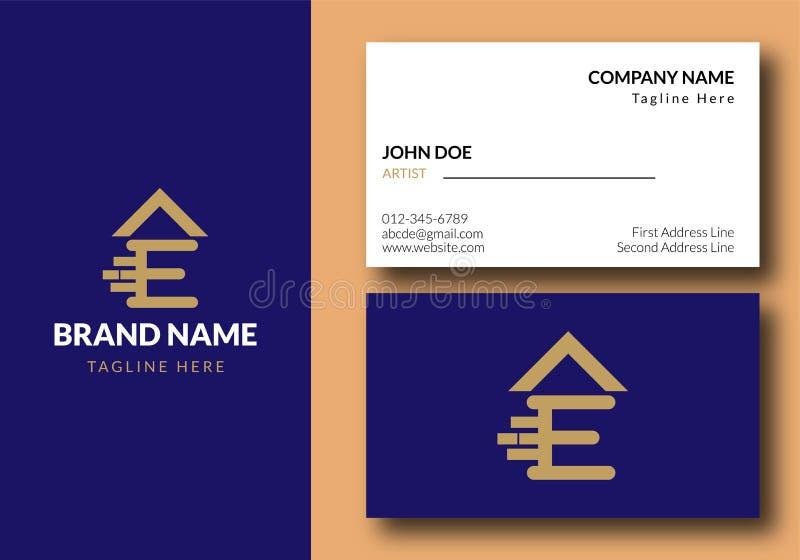 Letra E Real Estate Logo Design - propiedades inmobiliarias libre illustration