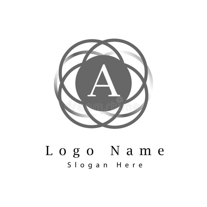 Letra el logotipo de A con infinito para circundar el fondo fotografía de archivo