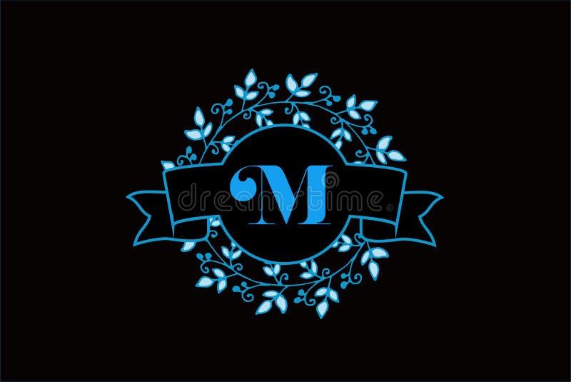 Letra elegante M Logo Design do monograma ilustração do vetor